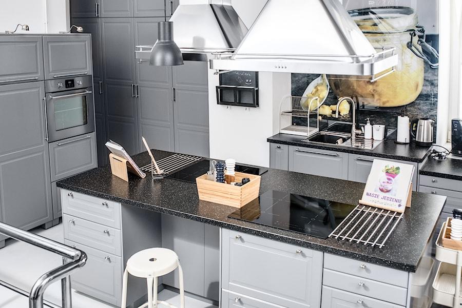 Kuchnia spotkań IKEA  Średnia otwarta kuchnia z wyspą   -> Kuchnia Z Wyspą Ikea