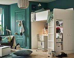 Pokój dziecka IKEA - Średni zielony pokój dziecka dla chłopca dla dziewczynki dla ucznia dla nastolatka, styl eklektyczny - zdjęcie od IKEA