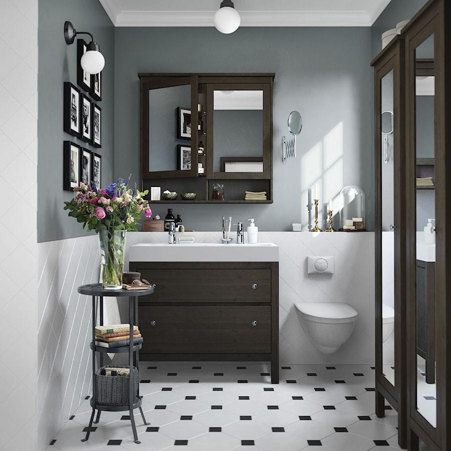 łazienka Ikea średnia Biała Szara łazienka W Domu