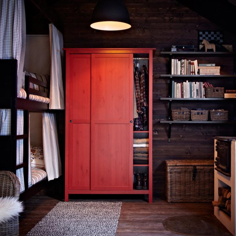 Sypialnia IKEA - Mała sypialnia dla gości, styl rustykalny - zdjęcie od IKEA