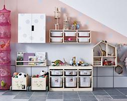 Pokój dziecka IKEA - Średni biały pastelowy różowy pokój dziecka dla dziewczynki dla malucha - zdjęcie od IKEA