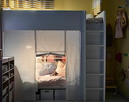Pokój dziecka IKEA - Mały szary żółty pokój dziecka dla dziewczynki dla rodzeństwa dla malucha - zdjęcie od IKEA
