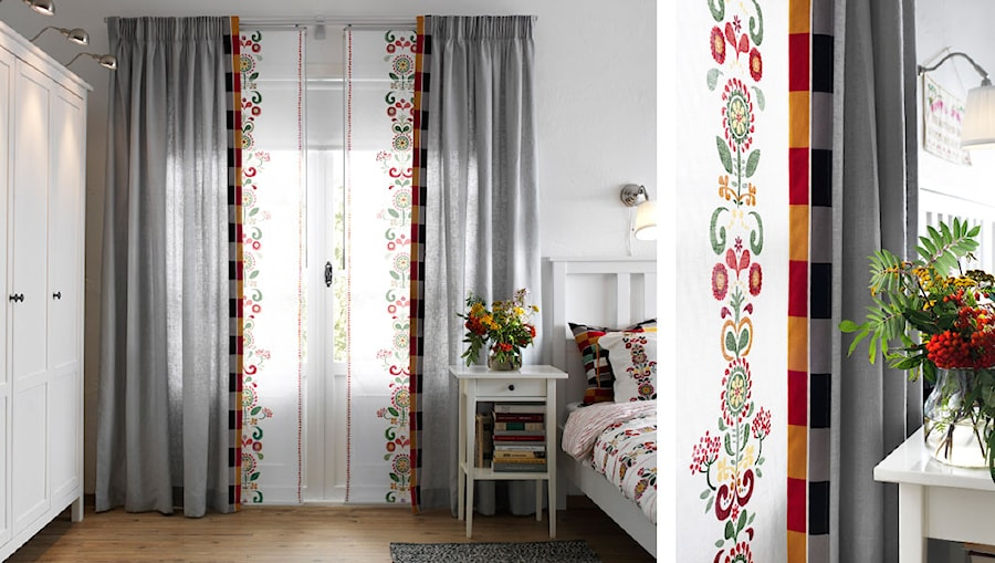 Sypialnia IKEA - Mała biała sypialnia małżeńska - zdjęcie od IKEA