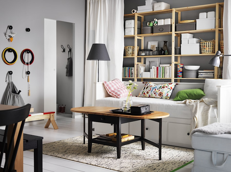 pok j dzienny ikea ma y salon z jadalni zdj cie od ikea homebook. Black Bedroom Furniture Sets. Home Design Ideas