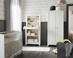 Pokój dziecka IKEA - Średni szary pastelowy kolorowy pokój dziecka dla chłopca dla dziewczynki dla niemowlaka - zdjęcie od IKEA