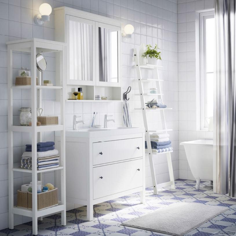 łazienka Ikea średnia Biała łazienka W Domu Jednorodzinnym