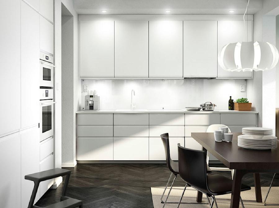 Kuchnia Ikea średnia Zamknięta Biała Kuchnia W Kształcie