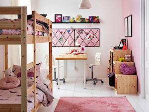 Pokój dziecka IKEA - Średni biały pastelowy różowy pokój dziecka dla dziewczynki dla rodzeństwa dla malucha - zdjęcie od IKEA