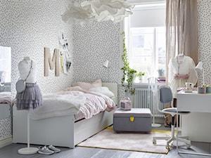 Pokój dziecka IKEA - Mały biały czarny pokój dziecka dla chłopca dla dziewczynki dla ucznia dla malucha dla nastolatka, styl vintage - zdjęcie od IKEA