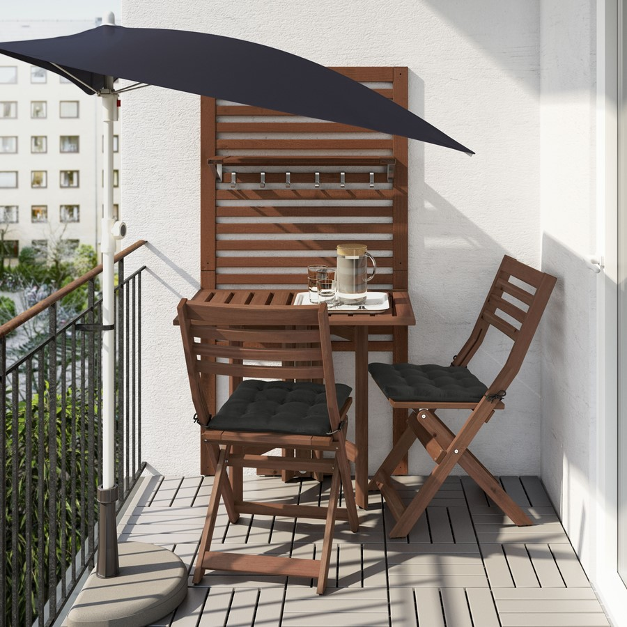balkon i ogr d ikea taras z ty u domu zdj cie od ikea homebook. Black Bedroom Furniture Sets. Home Design Ideas