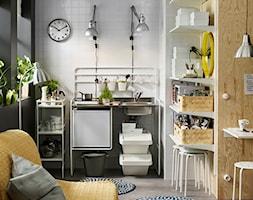 Kuchnia Ikea Mala Biala Czarna Kuchnia Jednorzedowa W Aneksie