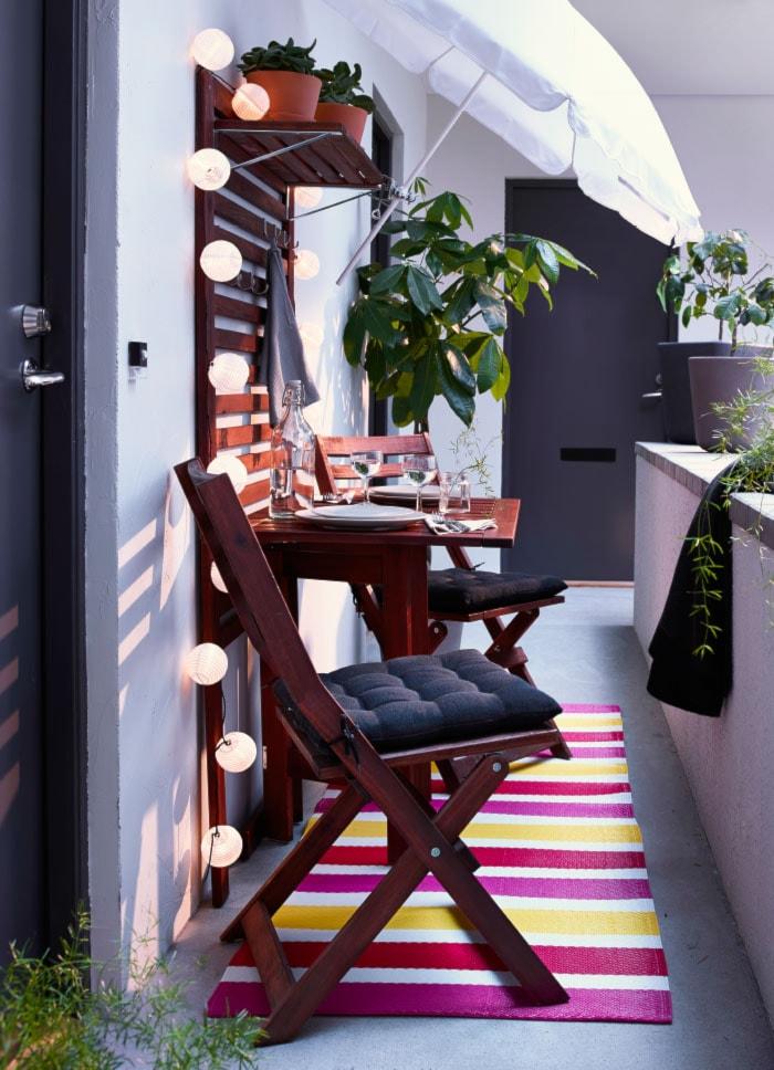 Balkon I Ogród Ikea Mały Taras Zdjęcie Od Ikea Homebook