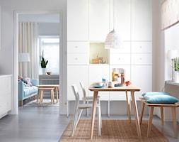Jadalnia IKEA - Mała zamknięta szara jadalnia w kuchni - zdjęcie od IKEA