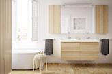 jasna łazienka w drewnie