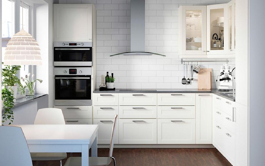 Kuchnia Ikea Mała Otwarta Biała Kuchnia W Kształcie Litery