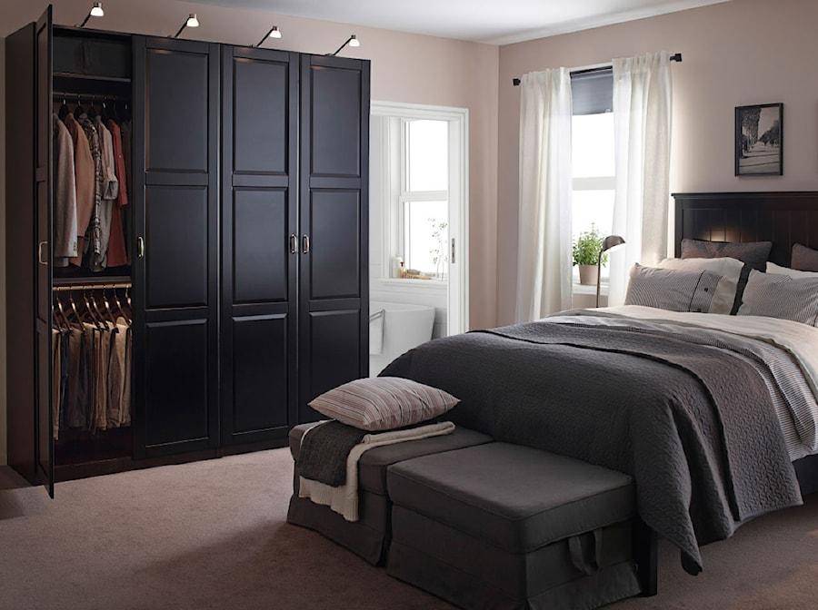 Sypialnia Ikea średnia Beżowa Biała Sypialnia Małżeńska