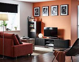 Pokój dzienny IKEA - Mały biały pomarańczowy salon - zdjęcie od IKEA