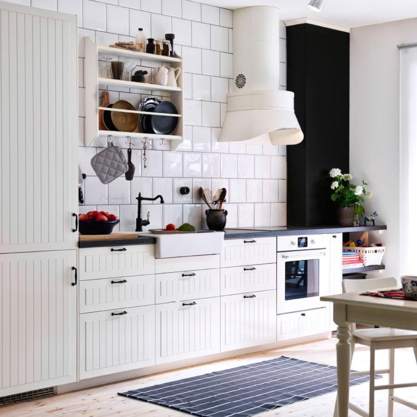 Kuchnia Ikea Mała Biała Czarna Kuchnia Jednorzędowa W