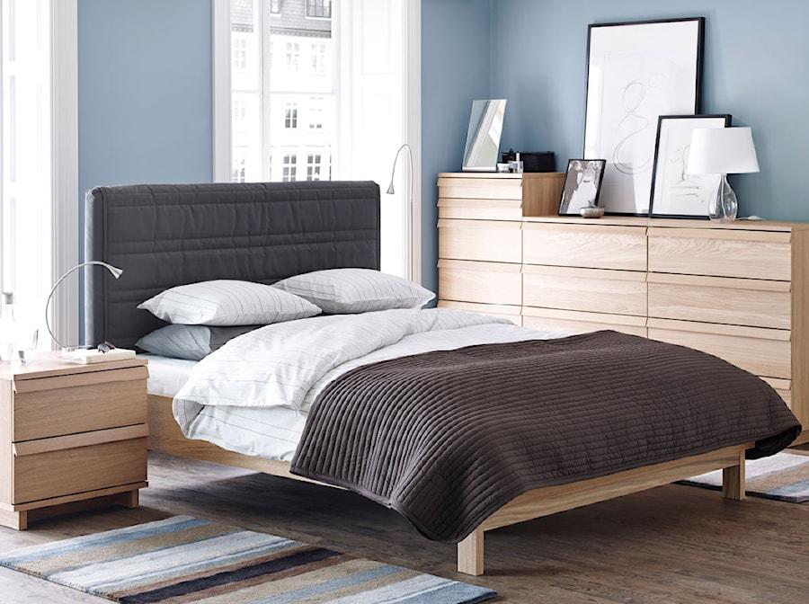 Sypialnia Ikea Mała Niebieska Sypialnia Małżeńska Styl