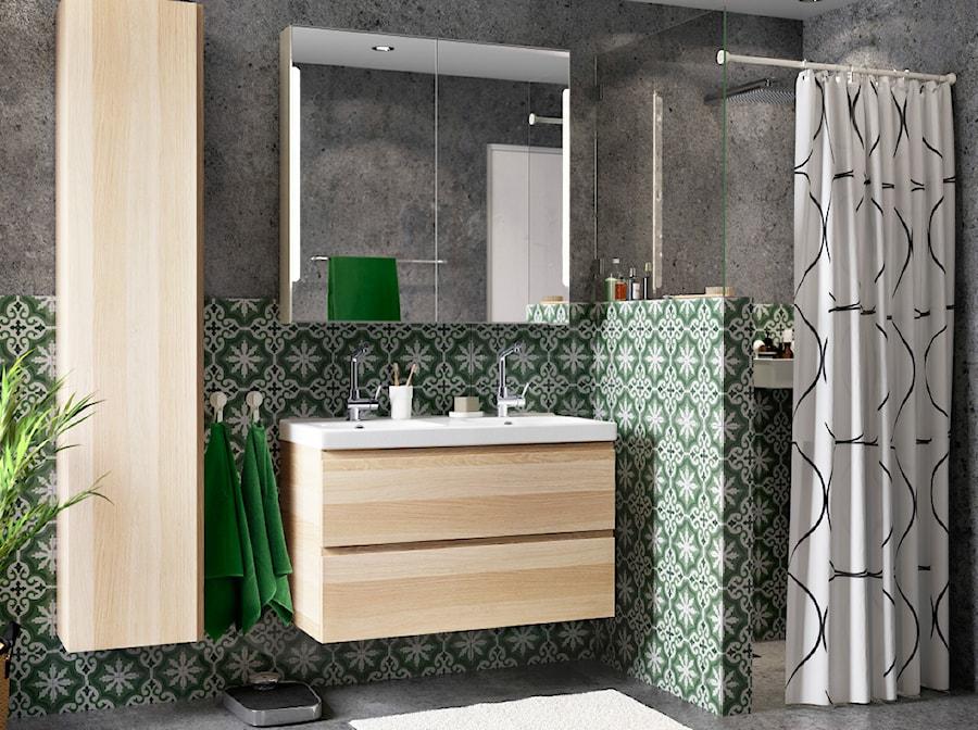 łazienka Z Zielonym Płytkami Aranżacje Pomysły Inspiracje Homebook