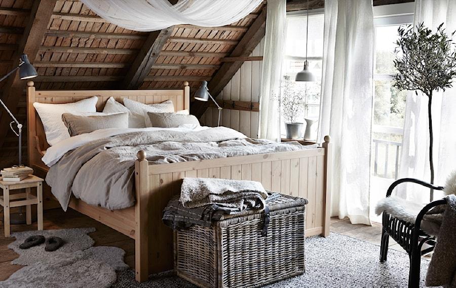 Sypialnia Ikea średnia Brązowa Sypialnia Małżeńska Na