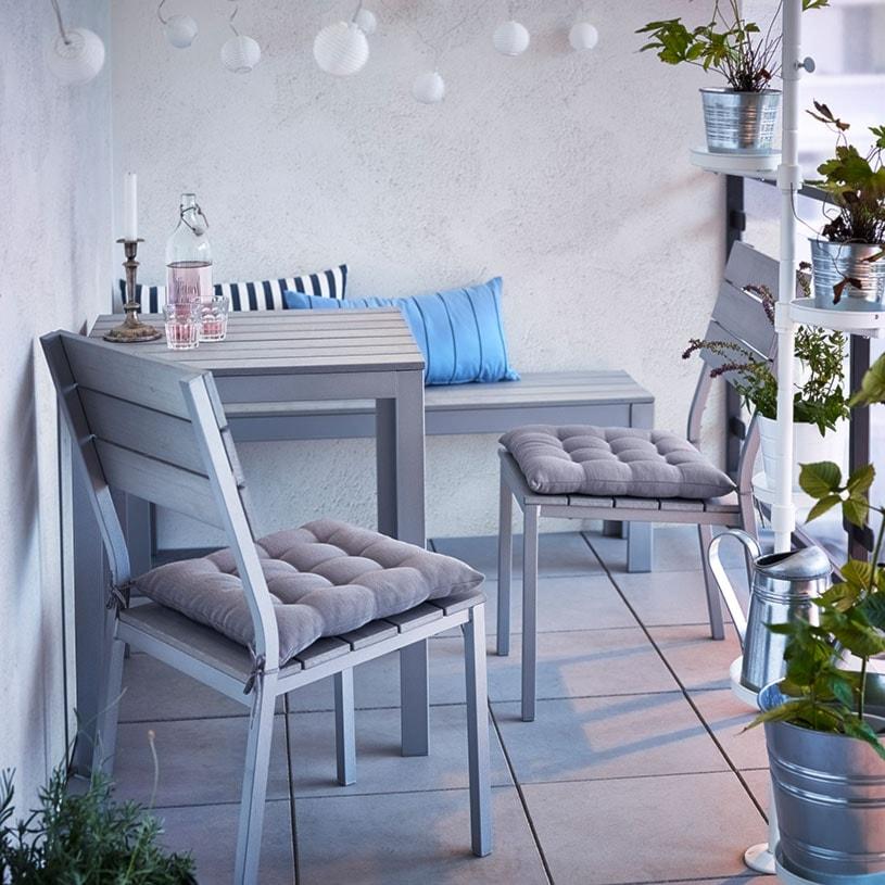 Aranżacje wnętrz - Taras: Balkon i ogród IKEA - Średni taras - IKEA. Przeglądaj, dodawaj i zapisuj najlepsze zdjęcia, pomysły i inspiracje designerskie. W bazie mamy już prawie milion fotografii!