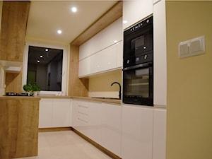 Kuchnia biały połysk i dąb arlington - zdjęcie od szafynawymiar24