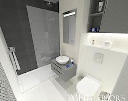 MIeszkanie w Gdańskim Alfa Parku - Mała łazienka w bloku w domu jednorodzinnym bez okna, styl nowoc ... - zdjęcie od JMJ Interiors - Homebook