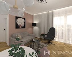 Mały różowy salon - zdjęcie od JMJ Interiors - Homebook