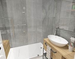 mieszkanie w bloku z wielkiej płyty - Mała łazienka, styl nowoczesny - zdjęcie od JMJ Interiors