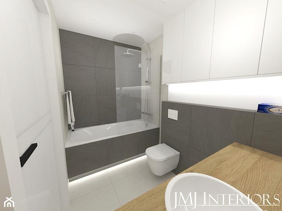 Minimalistyczne mieszkanie na Oruni Górnej Gdańsk - Łazienka, styl minimalistyczny - zdjęcie od JMJ Interiors