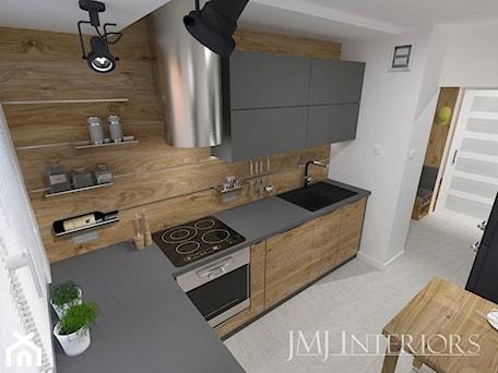 Aranżacje wnętrz - Kuchnia: mieszkanie w Łodzi - Średnia zamknięta biała kuchnia w kształcie litery l z oknem, styl nowoczesny - JMJ Interiors. Przeglądaj, dodawaj i zapisuj najlepsze zdjęcia, pomysły i inspiracje designerskie. W bazie mamy już prawie milion fotografii!