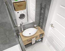 mieszkanie w bloku z wielkiej płyty - Mała łazienka w bloku bez okna, styl nowoczesny - zdjęcie od JMJ Interiors