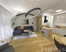 Minimalistyczne mieszkanie na Oruni Górnej Gdańsk - Salon, styl minimalistyczny - zdjęcie od JMJ Interiors - Homebook