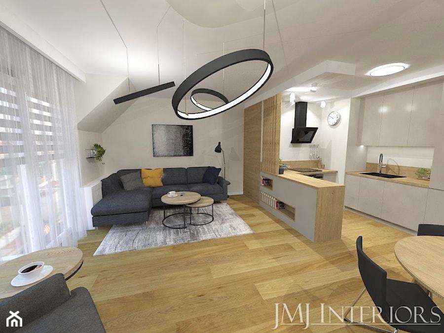 Minimalistyczne mieszkanie na Oruni Górnej Gdańsk - Salon, styl minimalistyczny - zdjęcie od JMJ Interiors