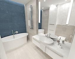 Apartament na Pogórzu - Mała łazienka w bloku w domu jednorodzinnym bez okna, styl nowoczesny - zdjęcie od JMJ Interiors