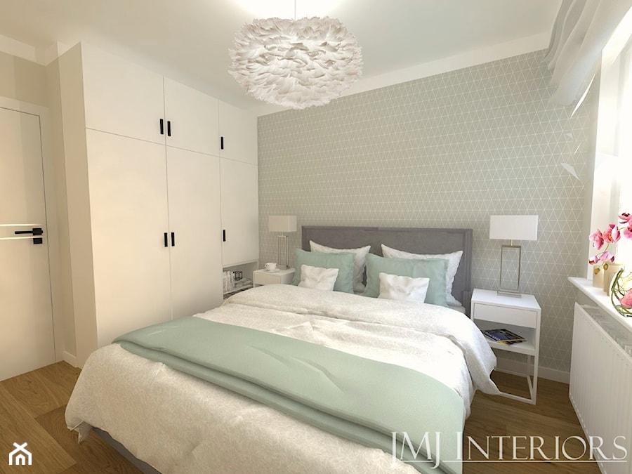 Minimalistyczne mieszkanie na Oruni Górnej Gdańsk - Sypialnia, styl nowoczesny - zdjęcie od JMJ Interiors