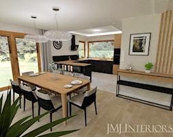 Dom w Skowarczu - Jadalnia, styl nowoczesny - zdjęcie od JMJ Interiors - Homebook