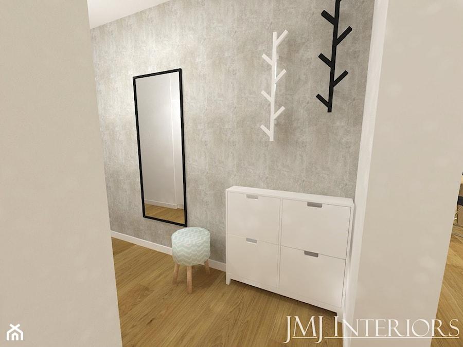 Minimalistyczne mieszkanie na Oruni Górnej Gdańsk - Hol / przedpokój, styl nowoczesny - zdjęcie od JMJ Interiors
