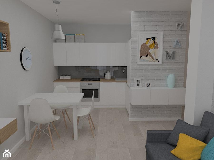 Salon Z Aneksem Kuchennym 16m2 Projekt Wnętrza Mieszkalnego