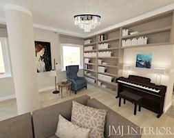 Przestronny apartament w Gdańsku - Duży szary salon, styl nowoczesny - zdjęcie od JMJ Interiors - Homebook