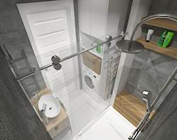 mieszkanie w bloku z wielkiej płyty - Mała łazienka w bloku w domu jednorodzinnym bez okna, styl nowoczesny - zdjęcie od JMJ Interiors