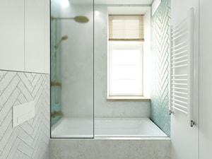 Lublin, Śródmieście - Mała biała łazienka w bloku w domu jednorodzinnym z oknem, styl eklektyczny - zdjęcie od MAGU. Pracownia projektowa