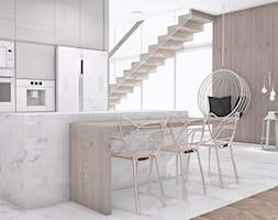 #1 - Średnia otwarta szara jadalnia w kuchni, styl nowoczesny - zdjęcie od Meble Wiśniewski MEBLO-MARK
