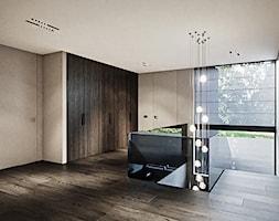 Rezydencja pod Poznaniem - Duży szary hol / przedpokój, styl nowoczesny - zdjęcie od Katarzyna Kraszewska Architektura Wnętrz - Homebook