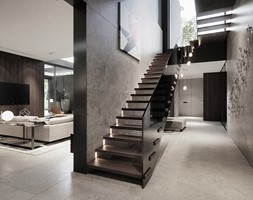 Rezydencja pod Poznaniem - Schody, styl nowoczesny - zdjęcie od Katarzyna Kraszewska Architektura Wnętrz - Homebook