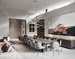 Rezydencja pod Poznaniem - Duża otwarta szara jadalnia w salonie, styl nowoczesny - zdjęcie od Katarzyna Kraszewska Architektura Wnętrz - Homebook