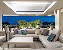 Cannes - Średni taras z przodu domu z tyłu domu - zdjęcie od Katarzyna Kraszewska Architektura Wnętrz