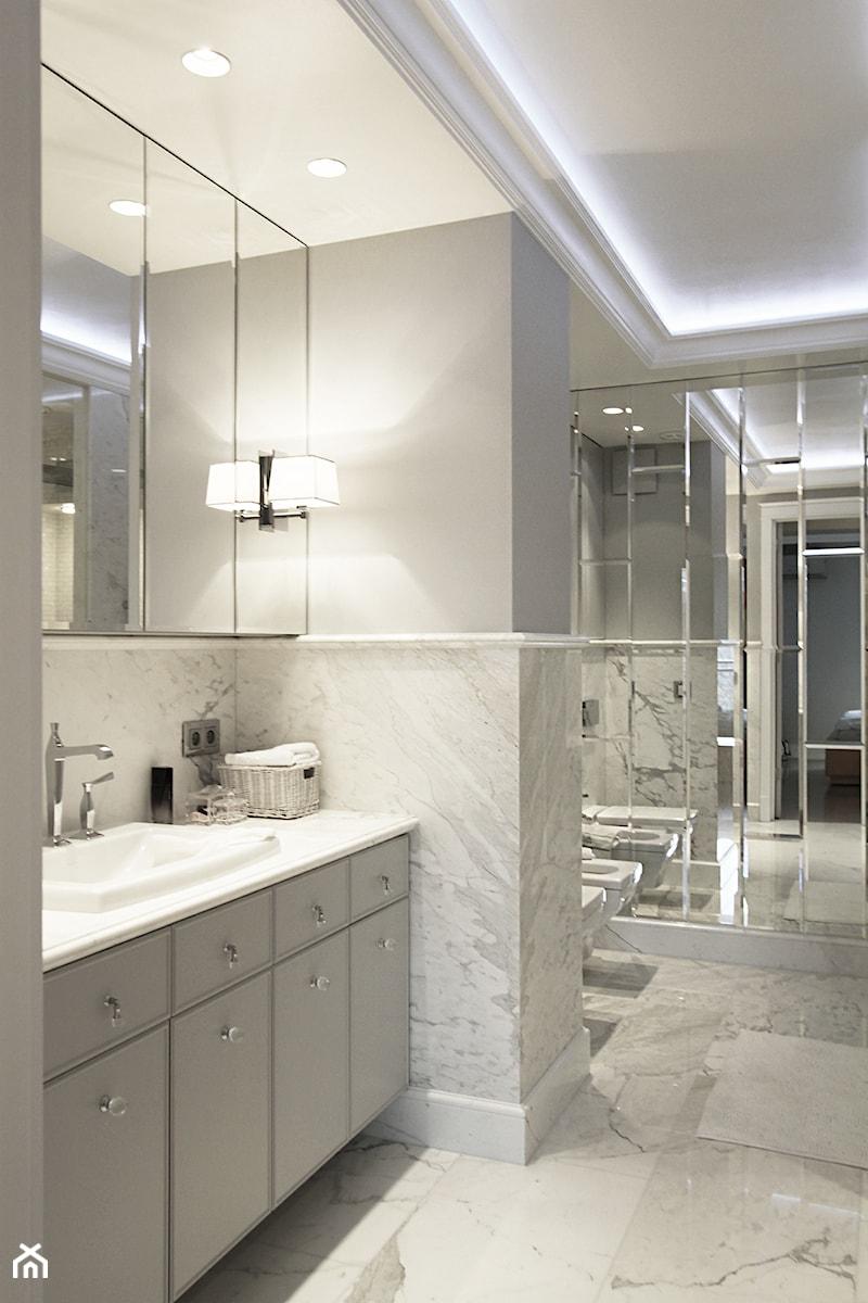 Szaro Biała łazienka Zdjęcie Od Katarzyna Kraszewska