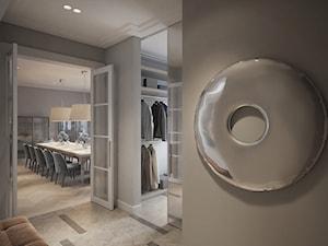Modernistyczna Willa - Mały beżowy hol / przedpokój, styl klasyczny - zdjęcie od Katarzyna Kraszewska Architektura Wnętrz